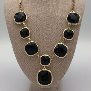 Monet Black and Gold Statement Necklace